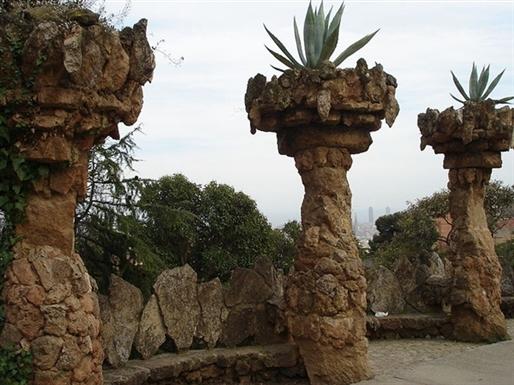 barcelona parc guell columns